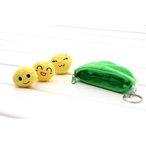 Schlüsselanhänger Erbsen in Hülle Stoff Plüsch Kinder witziger Anhänger Keychain