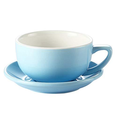 ZKGHJOKZ Becher Tasse 350Cc Garland Latte Kaffeetasse mit Tablett Fresh Style Espressotasse China Blue Garland