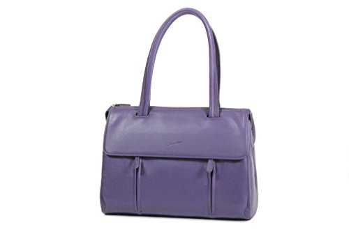 Borsa per la spesa shopping bag Gérard hénon morbida in pelle di vacchetta liscia gh13203 purple