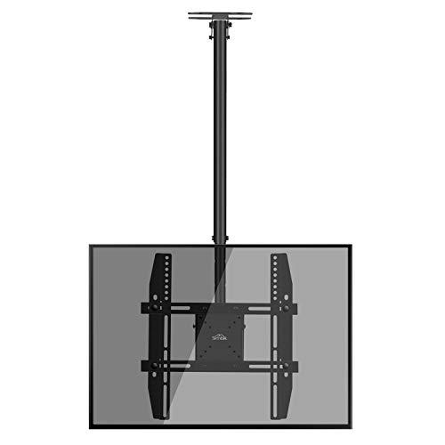 fernsehhalterung fuer dachschraege SIMBR TV Deckenhalterung Schwenkbar Neigbar VESA 400x400 an Flachdach oder Dachschrägen für LED LCD Plasma TVs von 22 bis 55 Zoll max. Tragegewicht 50kg