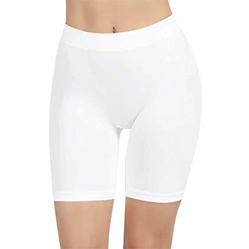 ITISME Jambières FemmesTaille Moyenne Dentelle Hot Shorts Pants Pantalons Élastique Grande Taille des Sports Pantalons Trunks Trousers (3XL, ZW-Blanc)