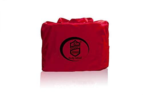 AMS Rotes AD-Cover® Mikrokontur mit Spiegeltaschen für VW Golf VII Kombi, schützende Autoabdeckung mit Perfekter Passform, hochwertige Abdeckplane als praktische Auto-Vollgarage