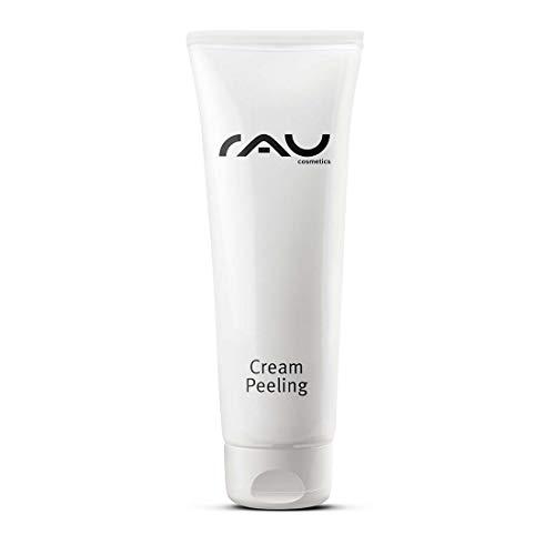 RAU Cream Peeling 75 ml - Reinigt, Belebt, Erfrischt die Gesichts-Haut und Spendet Feuchtigkeit für eine Weiche, Glatte und Entspannte Mimik, Gesichtspeeling mit Mirkopartikeln