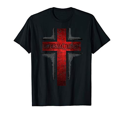 Eternal Light T-Shirt Distressed Christentum Kreuz Geschenk -