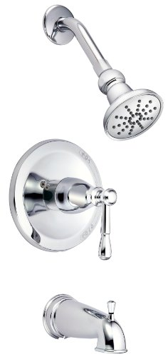 Danze D500015T Eastham Single Handle Tub and Shower Trim Kit with 3 1/2-Inch Showerhead, Chrome by Danze - Handle Tub Trim Kit