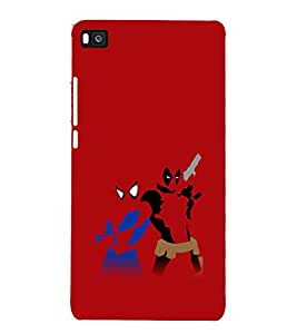 printtech Spider Dpool Swag Cartoon Back Case Cover for Honor P8