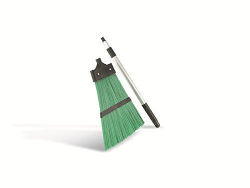 Besen Teleskopstiel 128cm Straßenbesen grün Laubbesen Gartenbesen Teleskopbesen