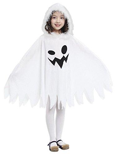 DEMU Kinderkostüm lustige Geist UmhangGespenst Weiß Cosplay Kostüm HalloweenKarneval - Gespenst Kinder Kostüm