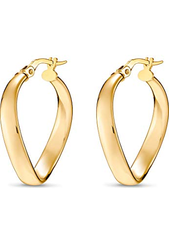 CHRIST Gold Damen-Creole 375er Gelbgold One Size 87280373