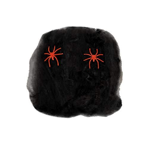 Oyedens Ghost Festival Scene Requisiten Spider Silk 40G Spider Silk + 2 Spinnen Halloween Spinnennetz Scary Party Szene Requisiten Stretchy Cobweb Home Bar Dekoration Halloween Spinnennetz (Spider Braut Kostüm)