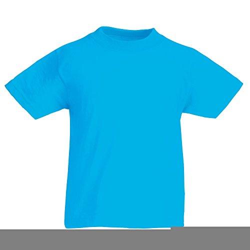 Ash Kids Shirt (Fruit of the Loom Childrens T Shirt in Azure 9-11)