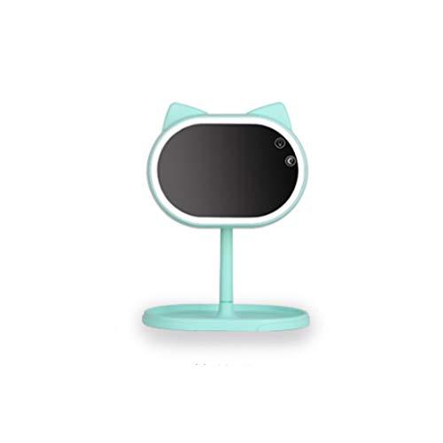 ACZZ Led maquillaje espejo lámpara portátil plegable