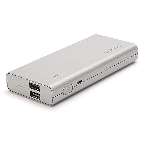 (Renewed) Lenovo PA10400 10400mAH Lithium Ion Power Bank (Silver) Image 3