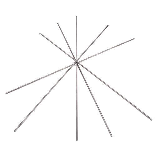 Kamas 5 Stück 2250 mm Titanium Sticks Runde Ti Bar Grade 5 Metallstäbe für die Herstellung von Gas-Turbinenkomponenten -