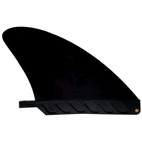 US box center stubby fin hard 4.6 for River SUP / longboard / airSUP / saruSURF - Black by saruSURF -