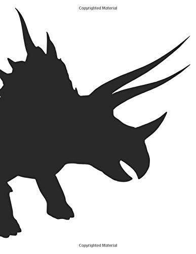 Triceratops Notebook: Narrow ruled dinosaur-themed journal
