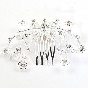 Wedding/ Bridal Flower Spray Design Crystal Diamante Hair Comb/ Tiara (AT2808) by Chelsea Jones Diamante Design