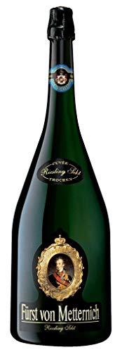 FÜRST VON METTERNICH Riesling Sekt Trocken (1 x 3 l) ǁ Doppelmagnum ǀ große 3l Flasche ǀ Premiumsekt aus edlen deutschen Weinen ǀ besondere Anlässe