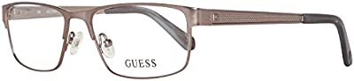 Guess GU1862-54-009 Gafas, Plateado, 54/16/145 para Hombre