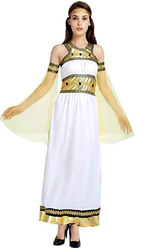 Lovelegis Einheitsgröße - Arabisches Kostüm - Muslim - Odalisque - Prinzessin für Frauen Mädchen - Verkleidung Karneval Halloween Cosplay - Weiße Farbe