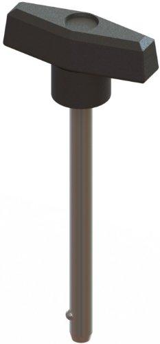 Innovative Komponenten AN4X 2000t5-d-215,1cm T Knopf, W/1/10,2cm Durchmesser x 1–3/10,2cm Effektive Länge fixrastung Pin, Stahl Zink (Pins Detent Ball)