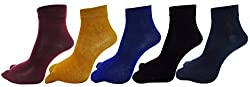 RC. ROYAL CLASS ANKLE COTTON THUMB SOCKS FOR WOMEN IN ASSORTED COLORS PACK OF 5