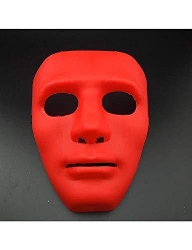 ZLJRR Halloween MaskeradeDress Up Maske B-Boy Hip-Hop Tanz Requisiten Ball Party Kostüm Masken Cosplay Scary Solid Full FaceFür Erwachsene, Rot (Hip Hop Tanz Kostüm Für Erwachsene)