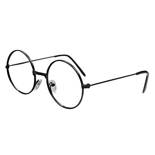 Nerds Und Jungs Geeks Kostüm - Juleya Kinder runder Gläser Rahmen - Kinder Brillen Geek/Nerd Retro Reading Eyewear Keine Objektive für Mädchen Jungen