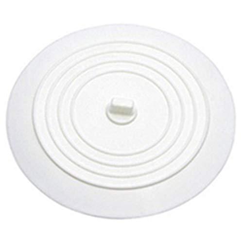 VIGE Auslaufsicherer Wasserstopper Waschbecken Haarfänger Rundes Silikon Flache Abdeckung Küchenablassschraube Universal-Weiß