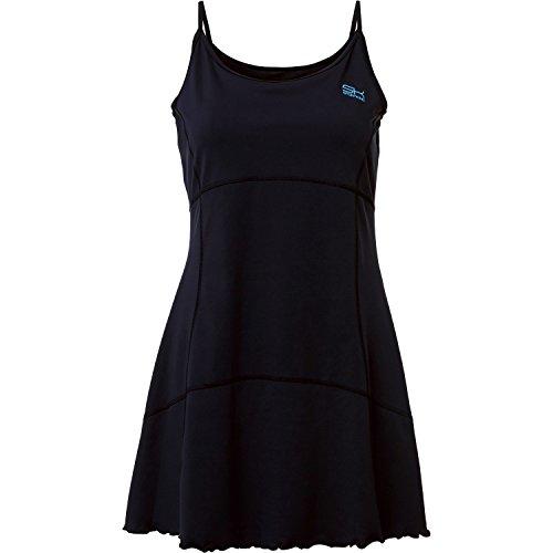 Sportkind Mädchen & Damen Tennis / Hockey Kleid mit Spaghetti Trägern, schwarz, Gr. 164 (Tennis-mädchen-kleid)