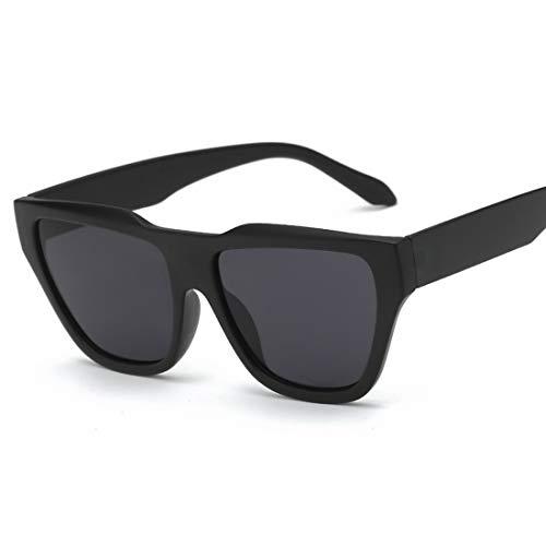 Shiduoli Quadratische Sonnenbrille mit übergroßem Rahmen für Männer und Frauen mit Verlaufsglas (Color : B)