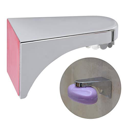 BUYGOO Magnetisch Seifenhalter Saugnapf Seifenschalen - Seifenhalter mit Magnet ohne Bohren/mit Bohren 3M kleben Wandmontage für Badezimmer