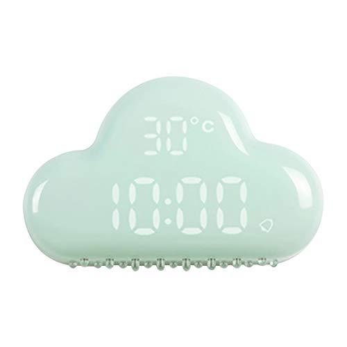 LIWUYOU con diseño de nube Digital alarma reloj calendario electrónico con control de sonido USB funciona con pilas, repetición de alarma y función de ahorro de energía