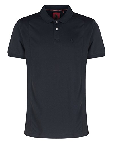 Luke 1977 Herren 2 Bob Note Mix Stoff Polo Shirt Jet Black