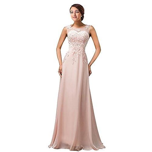 Abendkleid Rosa Lang: Amazon.de