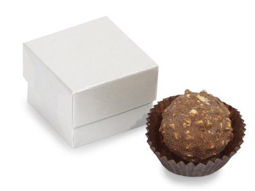 Single Schachteln für Trüffel Pearl 1-5/8 X 1 5/8 X 3, 10.16 cm, 2 Stück, 24 Stück