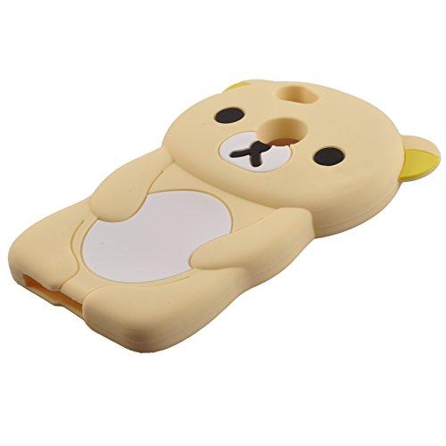 Voguecase® für Apple iPhone 7 Plus 5.5 hülle, Schutzhülle / Case / Cover / Hülle / TPU Gel Skin (Katzenbär Muster/Lila) + Gratis Universal Eingabestift Bär/Beige