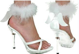 Sexy Angel Women's Costume Shoes, White: (Kostüme White Sexy Angel)