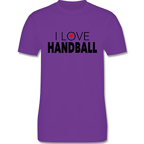 Handball - I Love Handball - Herren Premium T-Shirt Lila
