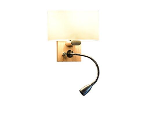 YUAN JIAN Wand-Lampe Moderne, einfache, kreative Schlafzimmer-Nachttisch-Balkon-Gang-Massivholz-Wand-Lampe