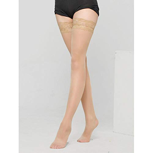Doll Kostüm Ag - Ultradünne Frauen Lace Flower Top Oberschenkel hoch Ultra Sheer Over Knee AG