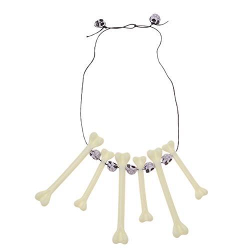 Amosfun Knochen Halskette Retro einzigartige Kette Simulation Dschungel Halskette höhlenbewohner kostüm zubehör Halskette schädel anhänger schmuck für Party Cosplay Leistung