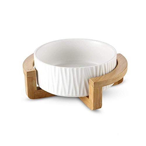 Pet Cat Bowl Hundenäpfe Anti-Rutsch-Keramik-Wassernapf für kleine Hunde Katzen (18.8 * 9cm, White 1)