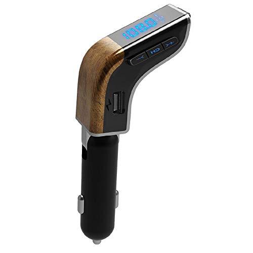 FISHTEC ® Bluetooth FM Transmitter - Freisprech- / integriertes Mikrofon-Kit - 2 USB-Sticks - SD-Karte - Einstellbar - Ulmenlupe Car-media-fm-transmitter