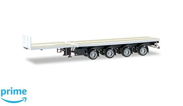 Herpa 307383 H0 LKW Scania R HL Holztransporter-Hängerzug unbedruckt