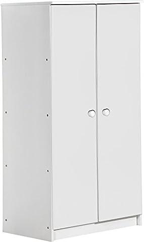 """Design Vicenza """"Avola"""" Zwei Tür Schrank, Holz, Weiß"""