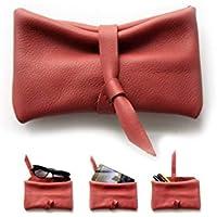 Custodia cellulare, Porta occhiali, Astuccio porta penne, Bustina in pelle rossa. Camy, little pouch