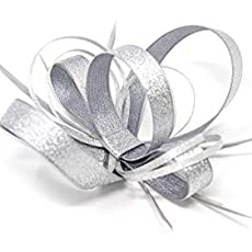 comb or Alice band Pale ice blue and silver fascinator on a clip