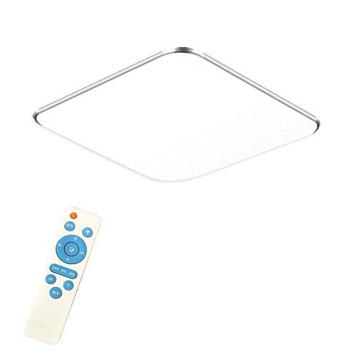 24W Dimmbar LED Modern Deckenlampe Ultraslim Deckenleuchte Schlafzimmer Küche Flur Wohnzimmer Lampe Wandleuchte Energie Sparen Licht Silber (24W Silber Dimmbar) - Farbe Helle Küche