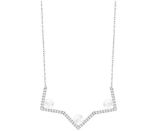 swarovski-collar-de-mujer-edify-medium-collar-acero-inoxidable-rodio-cristal-transparente-38-cm-5213